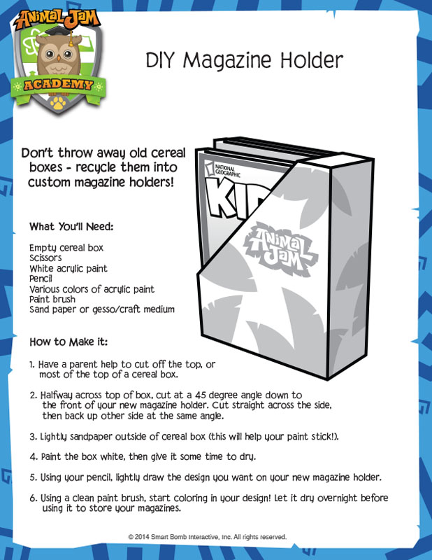 AJ Magazine Holder - Animal Jam Academy