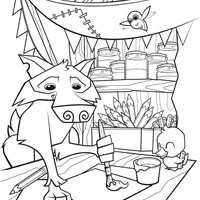 Animal Jam Coloring Pages Wolf