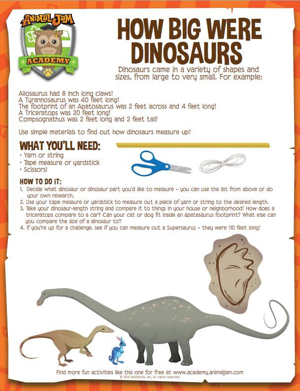 How Big Were Dinosaurs? - Animal Jam Academy