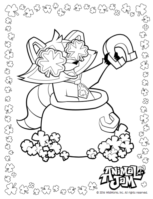 Lucky Day Coloring Pages Animal Jam Academy