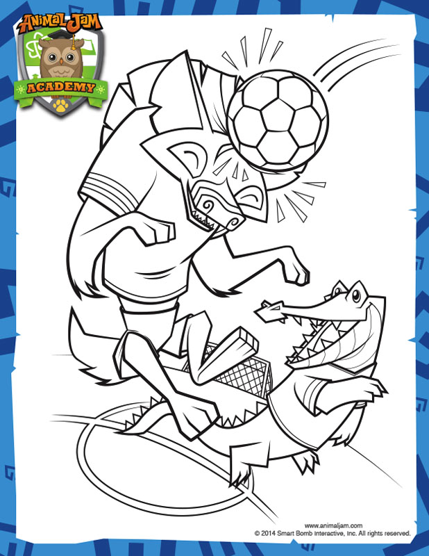 Soccer Coloring Page Animal Jam Academyrhacademyanimaljam: Animal Jam Coloring Pages To Print At Baymontmadison.com